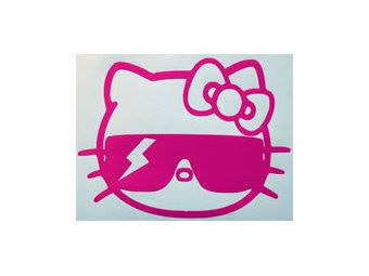 Hello Kitty Lady Gaga Thunder Sunglass Die Cut Vinyl Sticker Decal
