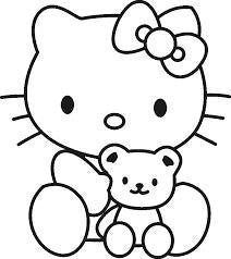 Hello Kitty With Teddy Bear Die Cut Vinyl Sticker Decal