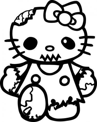 Hello Kitty Zombie | Die Cut Vinyl Sticker Decal | Sticky Addiction