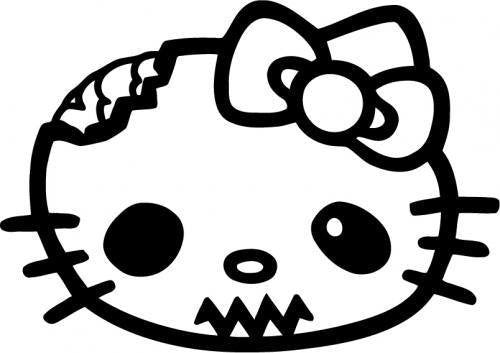 Hello Kitty Zombie Head | Die Cut Vinyl Sticker Decal | Sticky Addiction