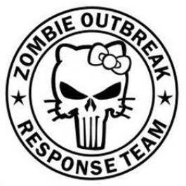Hello Kitty Zombie Outbreak Response Team Punisher Die Cut Vinyl Sticker Decal