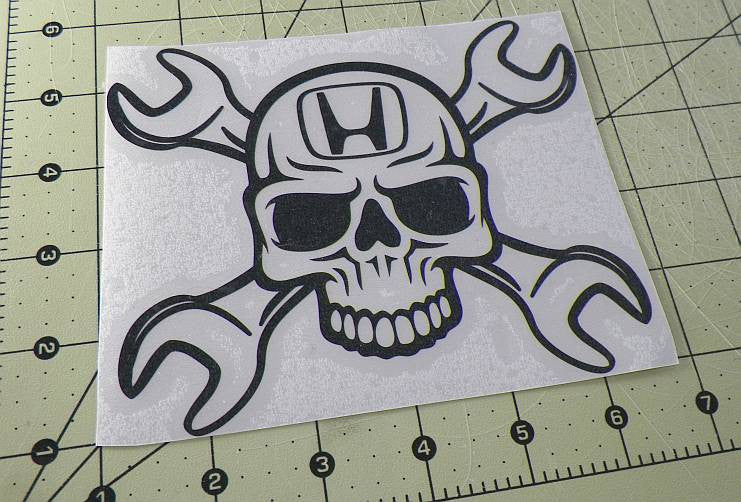 Honda Skull Wrench | Die Cut Vinyl Sticker Decal | Sticky Addiction