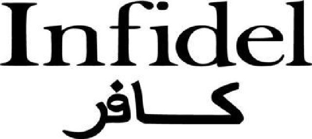 Infidel in 2 Languages Military | Die Cut Vinyl Sticker Decal | Sticky Addiction