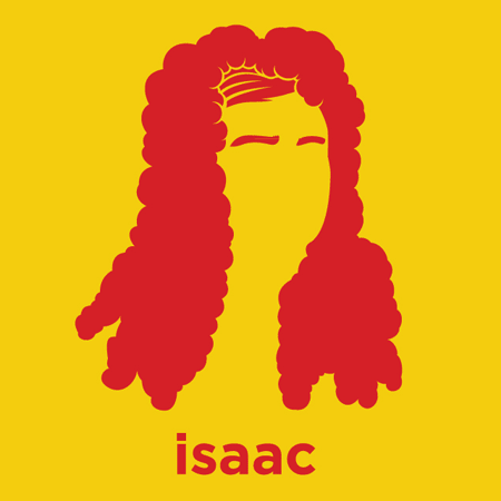 Isaac Newton - Die Cut Vinyl Sticker Decal