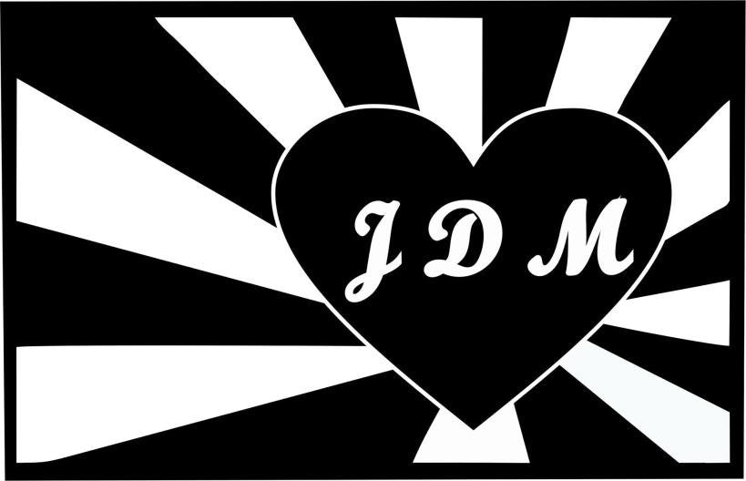 JDM Love |  Die Cut Vinyl Sticker Decal | Sticky Addiction