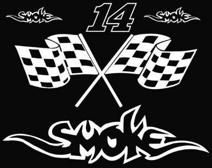 Tony Stewart Smoke 14  |  Die Cut Vinyl Sticker Decal | Sticky Addiction