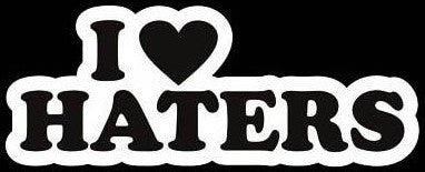 I Love Haters JDM Racing | Die Cut Vinyl Sticker Decal | Sticky Addiction