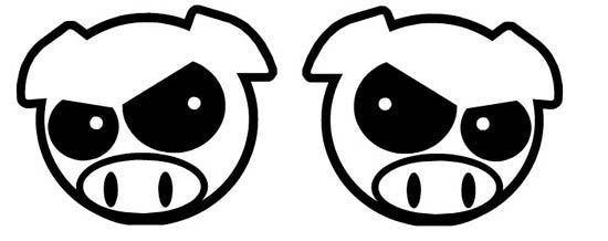 Angry Pig Head JDM Racing | Die Cut Vinyl Sticker Decal | Sticky Addiction