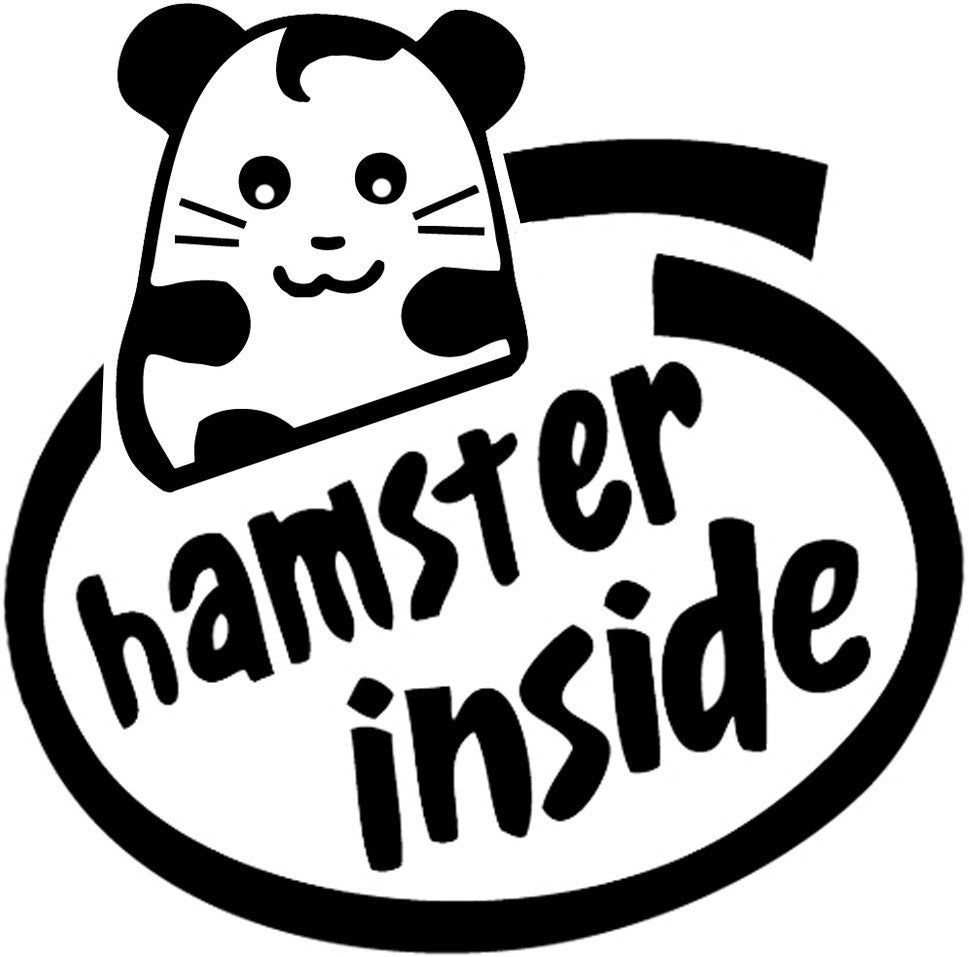 Hamster inside jdm racing die cut vinyl sticker decal sticky addiction