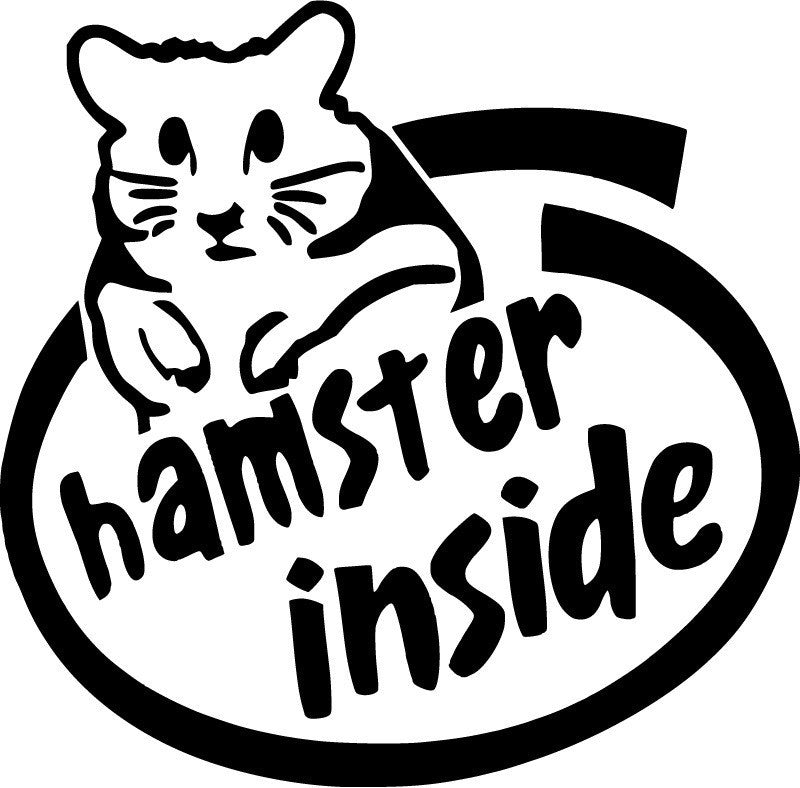 JDM Hamster Inside JDM Racing | Die Cut Vinyl Sticker Decal | Sticky Addiction