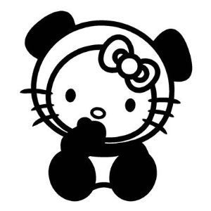 Hello Kitty Panda JDM Racing | Die Cut Vinyl Sticker Decal | Sticky Addiction