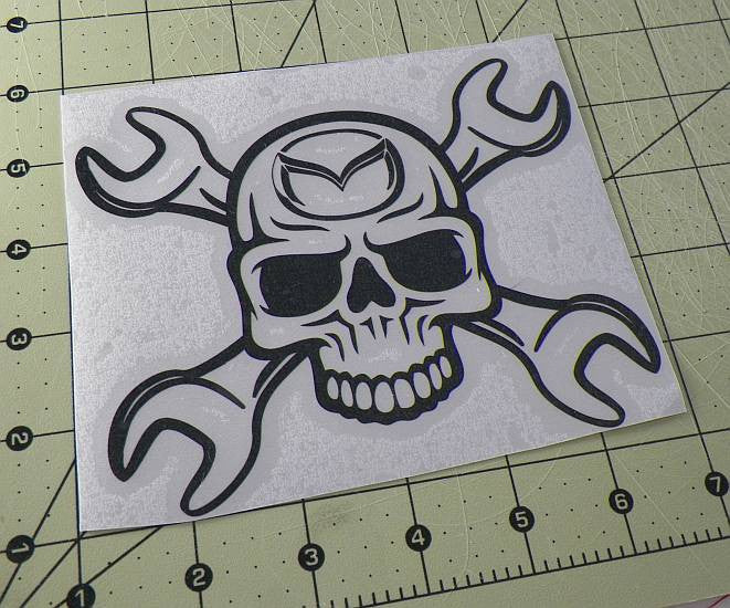 Mazda Skull Wrench | Die Cut Vinyl Sticker Decal | Sticky Addiction