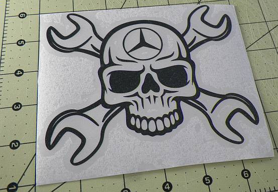 Mercedes Benz Skull Wrench | Die Cut Vinyl Sticker Decal | Sticky Addiction