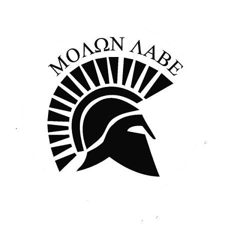 Molon Labe Spartan Helmet | Die Cut Vinyl Sticker Decal | Sticky Addiction