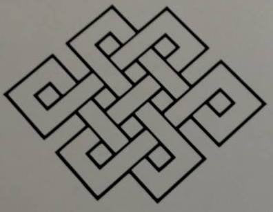 Mystic Endless Knot Feng Shui  |  Die Cut Vinyl Sticker Decal | Sticky Addiction