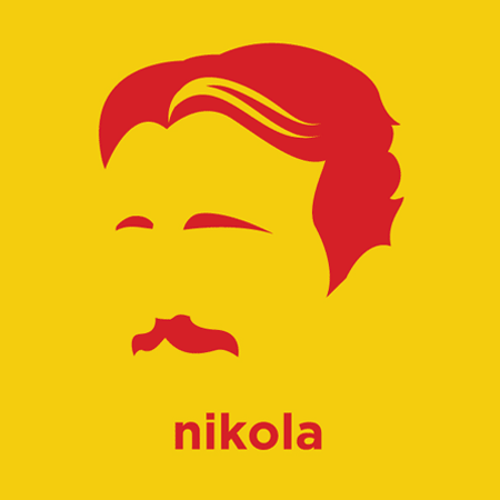 Nikola Tesla - Die Cut Vinyl Sticker Decal