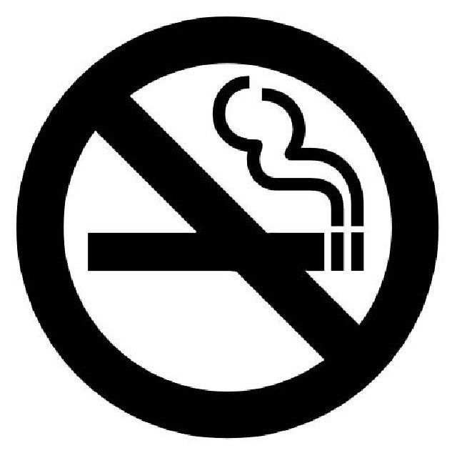 No Smoking Sign | Die Cut Vinyl Sticker Decal | Sticky Addiction