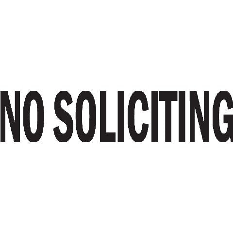 No Soliciting Sign Die Cut Vinyl Sticker Decal Sticky
