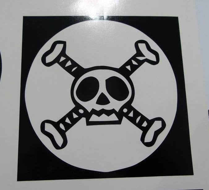 One Piece Anime Bizarre Jolly Roger Pirate Flag | Die Cut Vinyl Sticker Decal