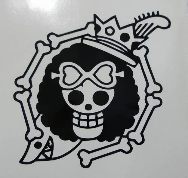 One Piece Anime Brook Jolly Roger Pirate Flag | Die Cut Vinyl Sticker Decal
