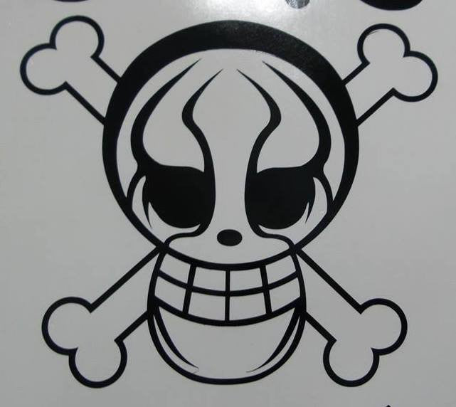 One Piece Anime Sting Wrestler Jolly Roger Pirate Flag | Die Cut Vinyl Sticker Decal