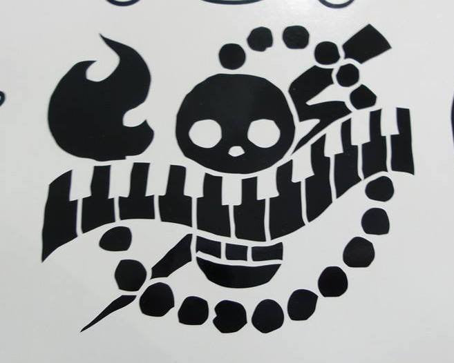 One Piece Anime Air Jolly Roger Pirate Flag | Die Cut Vinyl Sticker Decal