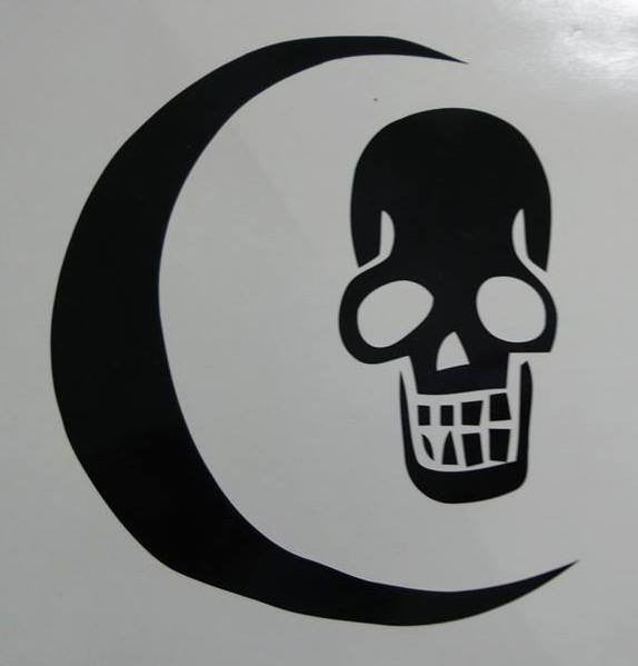 One Piece Anime Crescent Moon Jolly Roger Pirate Flag | Die Cut Vinyl Sticker Decal