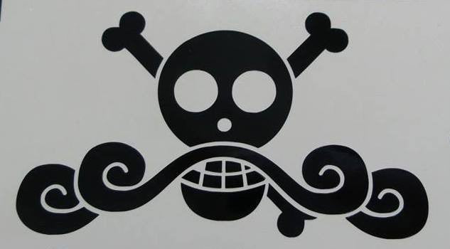 One Piece Anime Roger Jolly Roger Pirate Flag | Die Cut Vinyl Sticker Decal
