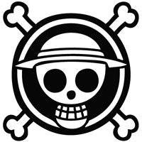 One Piece Monkey D Luffy Skull Crossbones | Die Cut Vinyl Sticker Decal | Sticky Addiction