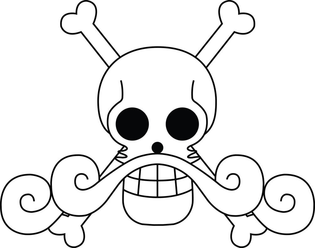 One Piece Roger Pirates Jolly Roger | Die Cut Vinyl Sticker Decal