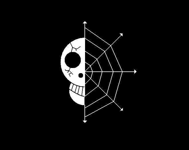 One Piece Skull Cobweb | Die Cut Vinyl Sticker Decal