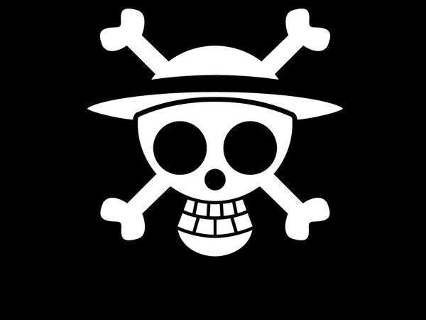 One Piece Straw Hat Jolly Roger Variation Die Cut Vinyl Sticker