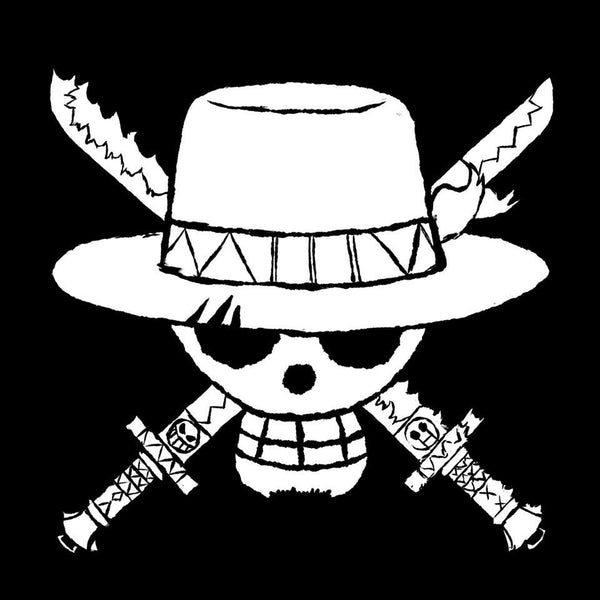 One Piece Straw Hat Jolly Roger Variation2 Die Cut Vinyl