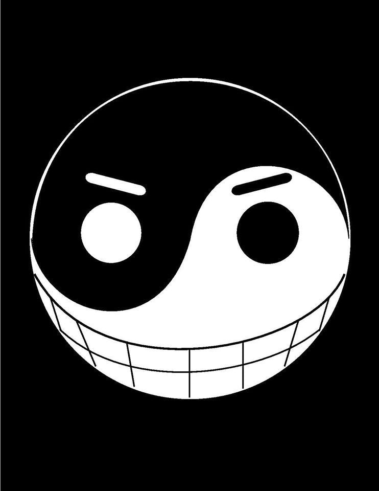 One Piece Yin-Yang Jolly Roger | Die Cut Vinyl Sticker Decal