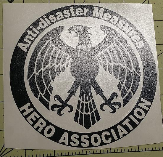 Onepunch Man Anti Disaster Hero Association Logo Manga | Die Cut Vinyl Sticker Decal