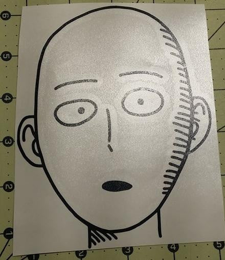 Onepunch Man Face Saitama Manga | Die Cut Vinyl Sticker Decal