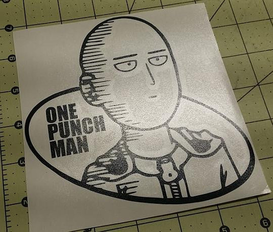 Onepunch Man Saitama Logo Manga | Die Cut Vinyl Sticker Decal