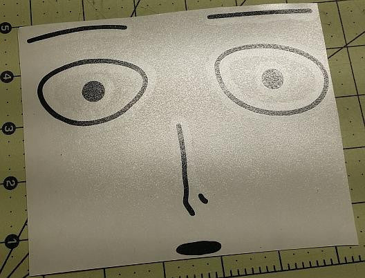 Onepunch Man Poker Face Saitama Manga | Die Cut Vinyl Sticker Decal