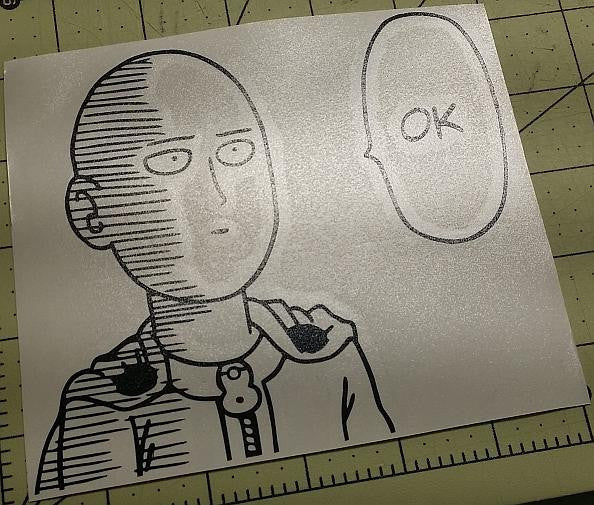 Onepunch Man Saitama Says Ok Manga | Die Cut Vinyl Sticker Decal