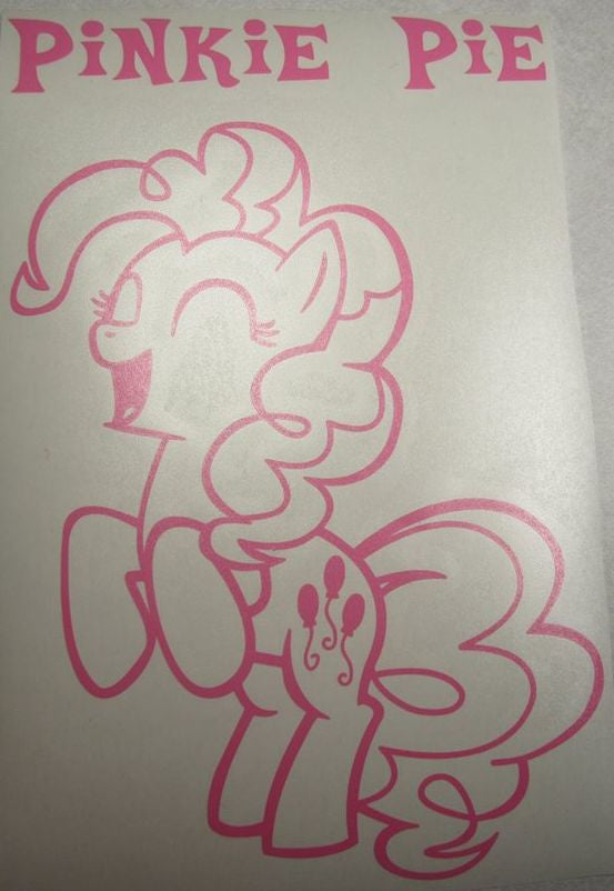 Pinkie Pie My Little Pony Rearing Takes | Die Cut Vinyl Sticker Decal | Sticky Addiction