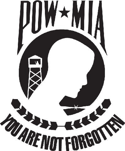 POW MIA Military | Die Cut Vinyl Sticker Decal | Sticky Addiction
