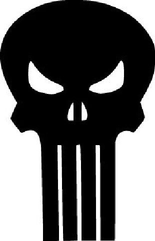 The Punisher Skull  | Die Cut Vinyl Sticker Decal | Sticky Addiction
