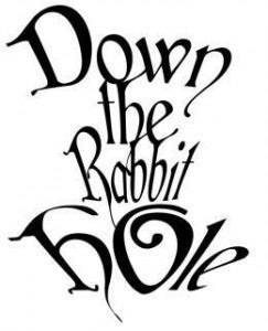 Down The Rabbit Hole Alice | Die Cut Vinyl Sticker Decal | Sticky Addiction