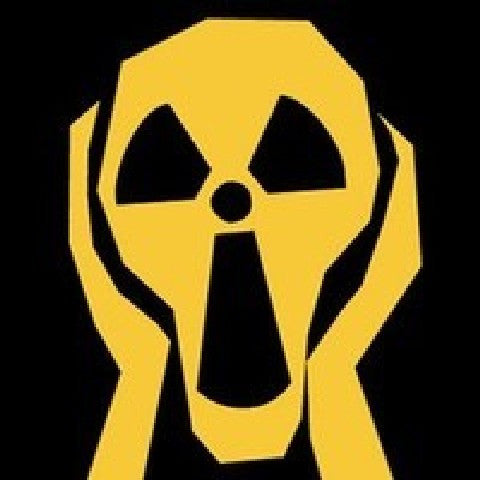 Radioactive screaming man | Die Cut Vinyl Sticker Decal | Sticky Addiction