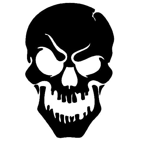 Raised Brow Skull | Die Cut Vinyl Sticker Decal | Sticky Addiction