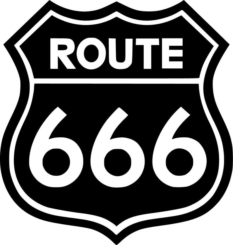 Route 666 jdm racing die cut vinyl sticker decal sticky addiction