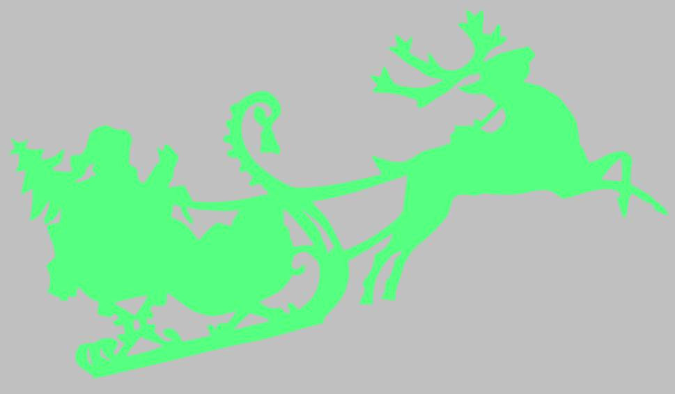 Santa Sleigh Christmas Tree Reindeer  | Die Cut Vinyl Sticker Decal | Sticky Addiction