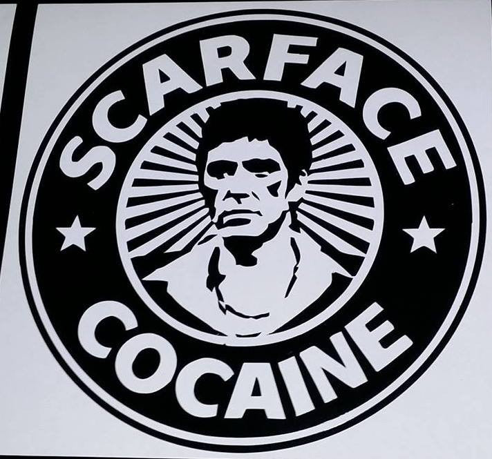 Scarface Al Pacino Cocaine | Die Cut Vinyl Sticker Decal | Sticky Addiction