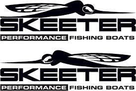 Skeeter Fishing Boats Set of 2 | Die Cut Vinyl Sticker Decal | Sticky Addiction