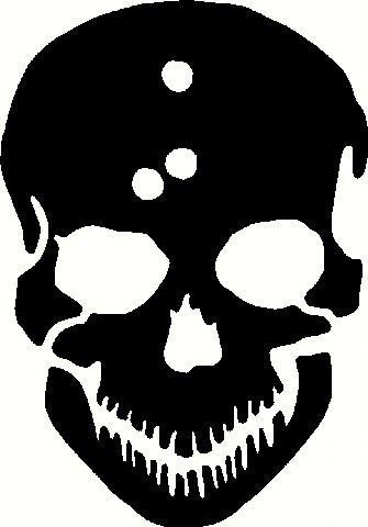 Skull With Bullet Holes | Die Cut Vinyl Sticker Decal | Sticky Addiction